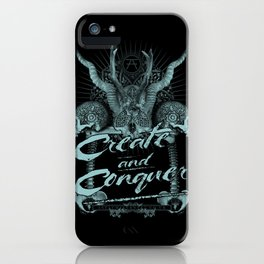 Create and Conquer iPhone Case
