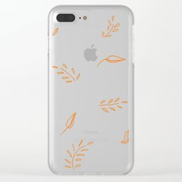 Flowy leaves Clear iPhone Case