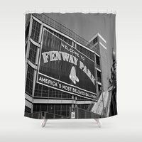 boston Shower Curtains featuring Boston by Gold Street Photography