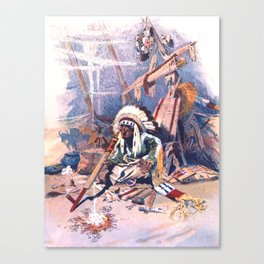 The Indian tepee Canvas Print