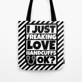 Handcuff Lover Funny - Handcuffs Humor Gifts Tote Bag