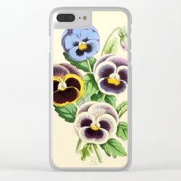 Andrews, James (1801-1876) - The Floral Magazine 1869 - Pansies Clear iPhone Case