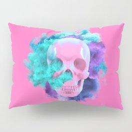 Colored Smoking Skull Pillow Sham