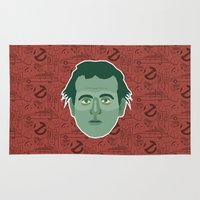 ghostbusters Area & Throw Rugs featuring Peter Venkman - Ghostbusters by Kuki