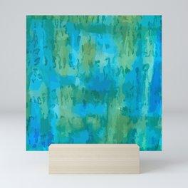 Blues Greens Color Study Mini Art Print
