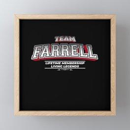 Team FARRELL Family Surname Last Name Member Framed Mini Art Print