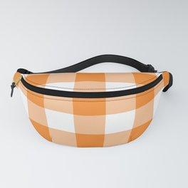 Orange Gingham Pattern Fanny Pack
