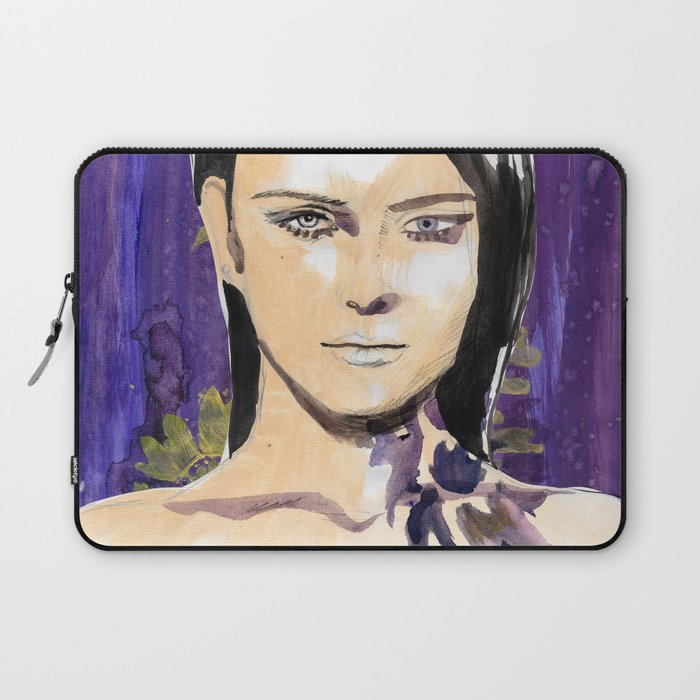 Purple beauty fashion lllustration Laptop Sleeve