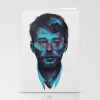 radiohead Stationery Cards featuring Thom Yorke (Radiohead) by charlotvanh