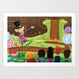 Willy Wonka's Chocolate Factory Art Print