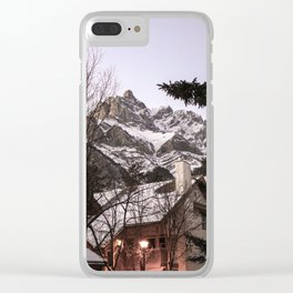 Cabin in the mountains, Alberta, Canada Clear iPhone Case