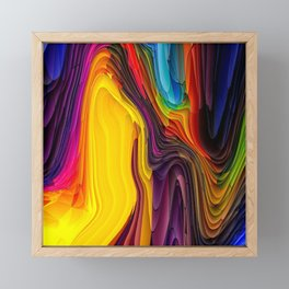 Melting Pot of Colors Abstract Framed Mini Art Print