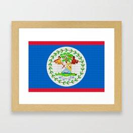 Belize Flag (Patchwork Look) Framed Art Print
