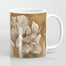Magnolia on Wood Coffee Mug