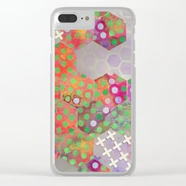 Hexagon Junction Clear iPhone Case