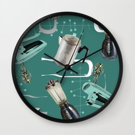 Fifties Kitchen Emerald Wall Clock