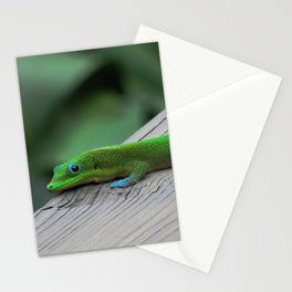 Relaxing Gecko Stationery Cards
