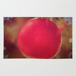 The Red Christmas Ball in the Window Rug