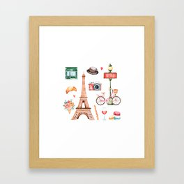 Welcome To Paris Framed Art Print