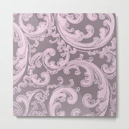 Retro Chic Swirl Ballet Slipper Metal Print