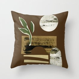 Bright Desert Moon Throw Pillow