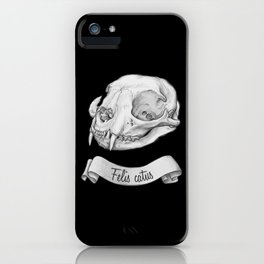 Cat skull in ink iPhone Case