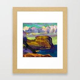 George Bellows Rocks and Coast Framed Art Print