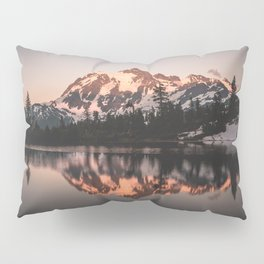 Alpenglow - Mountain Reflection - Nature Photography Pillow Sham