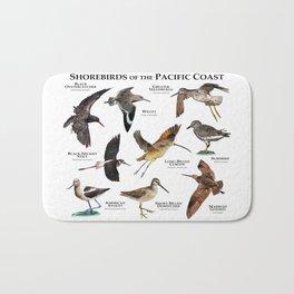 Shorebirds of the Pacific Coast Bath Mat