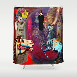 Fossil Fuel Cemetery Shower Curtain