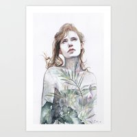 breathe Art Prints featuring Breathe in, breathe out by agnes-cecile