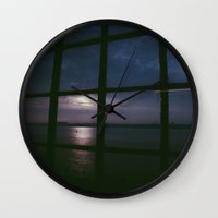 liverpool Wall Clocks featuring Liverpool Sunset by Chloe Gibb