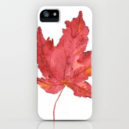Fall Maple Leaf iPhone Case