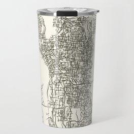 Seattle Washington City Map Travel Mug