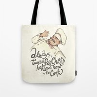 chef Tote Bags featuring CHEF by Mike Koubou