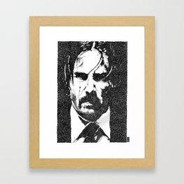 John Wick (Sketchy Reputation / Jeff Gross) Framed Art Print