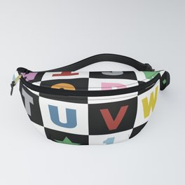 Alphabet Black and White with Colour Fanny Pack