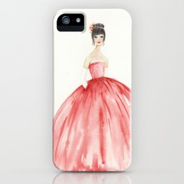 The Red Ball Gown iPhone Case