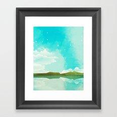 Warm Blue Sky Framed Art Print