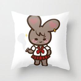 Bad Bunny Girl Lifestyle(2) Throw Pillow