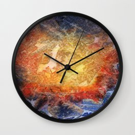 Visages Wall Clock