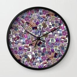 The World in Purple Wall Clock