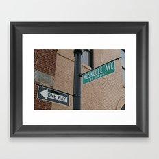 Street Sign with Cherokee Framed Art Print
