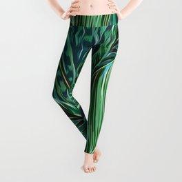 Blue and Green Leggings