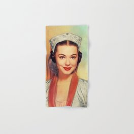 Barbara Rush, Vintage Actress Hand & Bath Towel