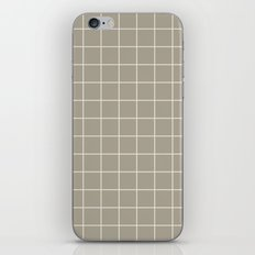 Gray Grey Alabaster Grid iPhone Skin