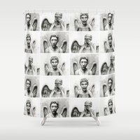 angels Shower Curtains featuring Weeping Angels  by Olechka