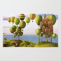 City in the Sky_Lanscape Format Rug