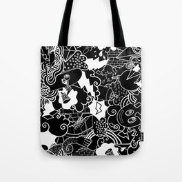 Black and White Graffiti pattern Tote Bag