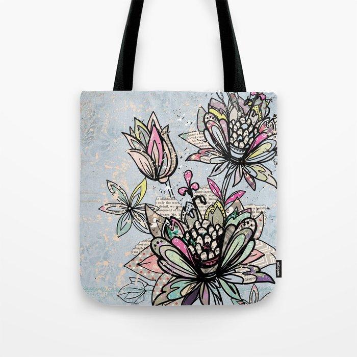 Paper Flowers #4 Tote Bag
